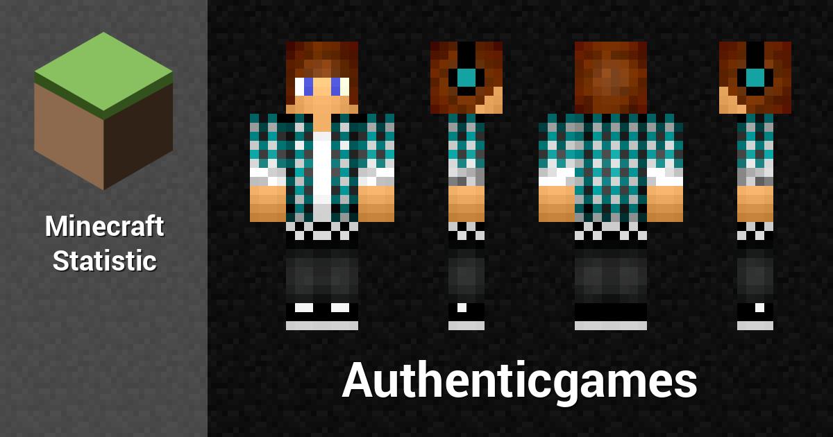 Authenticgames Minecraft Player Minecraft Statistics - Skin para minecraft pe do authenticgames