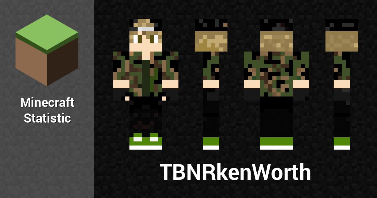 TBNRkenWorth Minecraft Player Minecraft Statistics - Skins para minecraft pe tsuna