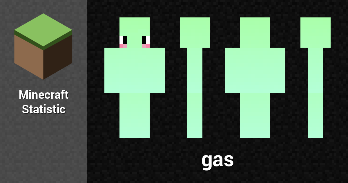 gas minecraft player minecraft statistics