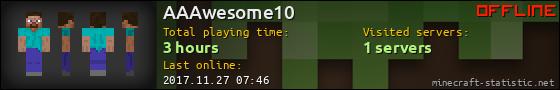 AAAwesome10 userbar 560x90