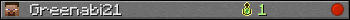 Greenabi21 userbar 350x20