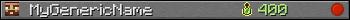 Юзербар 350x20 для MyGenericName
