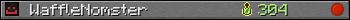WaffleNomster userbar 350x20