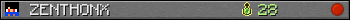 Юзербар 350x20 для ZENTHONX