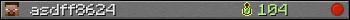 Benutzerleisten 350x20 für asdff8624