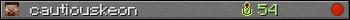 cautiouskeon userbar 350x20