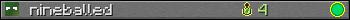 Benutzerleisten 350x20 für nineballed