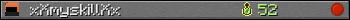 xXmyskillXx userbar 350x20