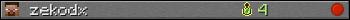 Benutzerleisten 350x20 für zekodx