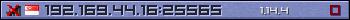 Юзербар фіолетовий 350x20 для сервера 192.169.44.16:25565