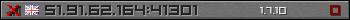 Юзербар сірий 350x20 для сервера 198.55.108.137:25565